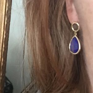 Anthropologie lapis blue drop earrings